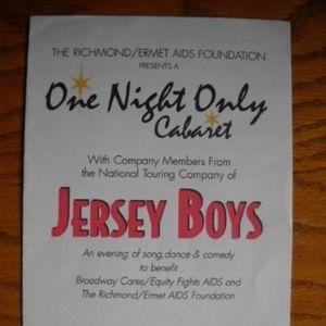Playbill Program Jersey Boys benefit concert SF CA